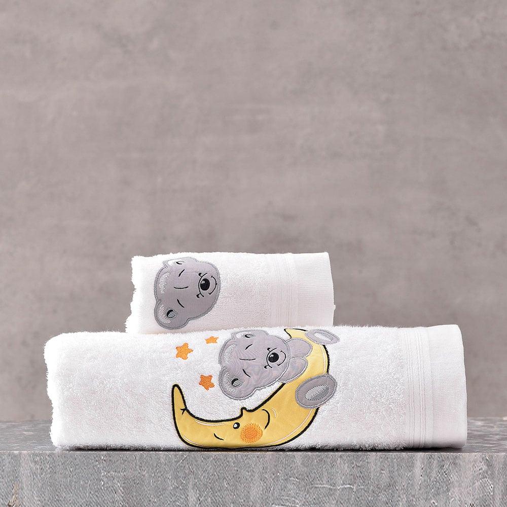 Πετσέτες Παιδικές Σετ 2τμχ Arturo Grey Ρυθμός Σετ Πετσέτες