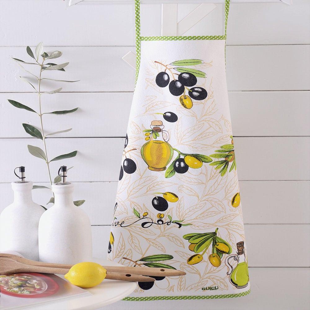 Ποδιά Κουζίνας Αδιάβροχη Olives Multi Ρυθμός