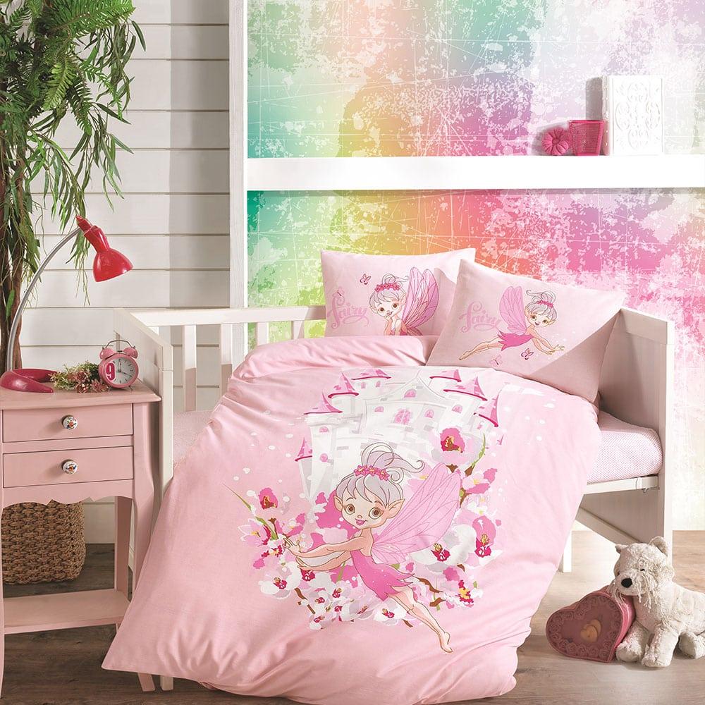 Σεντόνια Βρεφικά Fairy Σετ 3τμχ Pink Ρυθμός Κούνιας