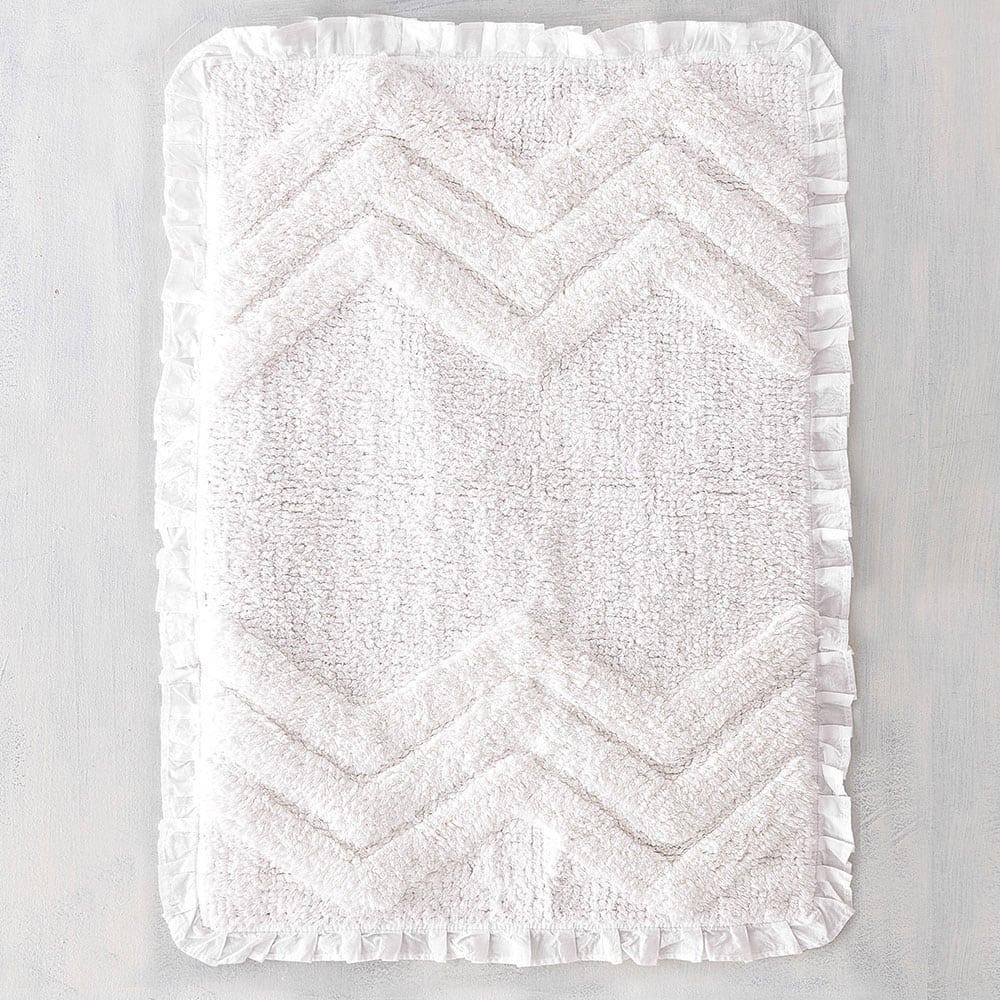 Ταπέτο Μπάνιου Darius White Ρυθμός Medium
