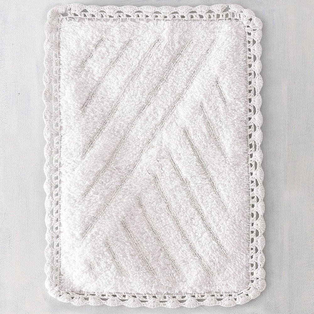 Ταπέτο Μπάνιου Emperor White Ρυθμός Large
