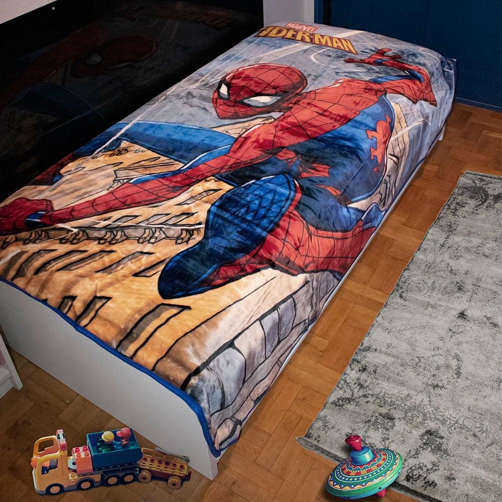 Κουβέρτα Παιδική Βελουτέ Disney Spiderman 511 Digital Print Dim Μονό 160x220cm