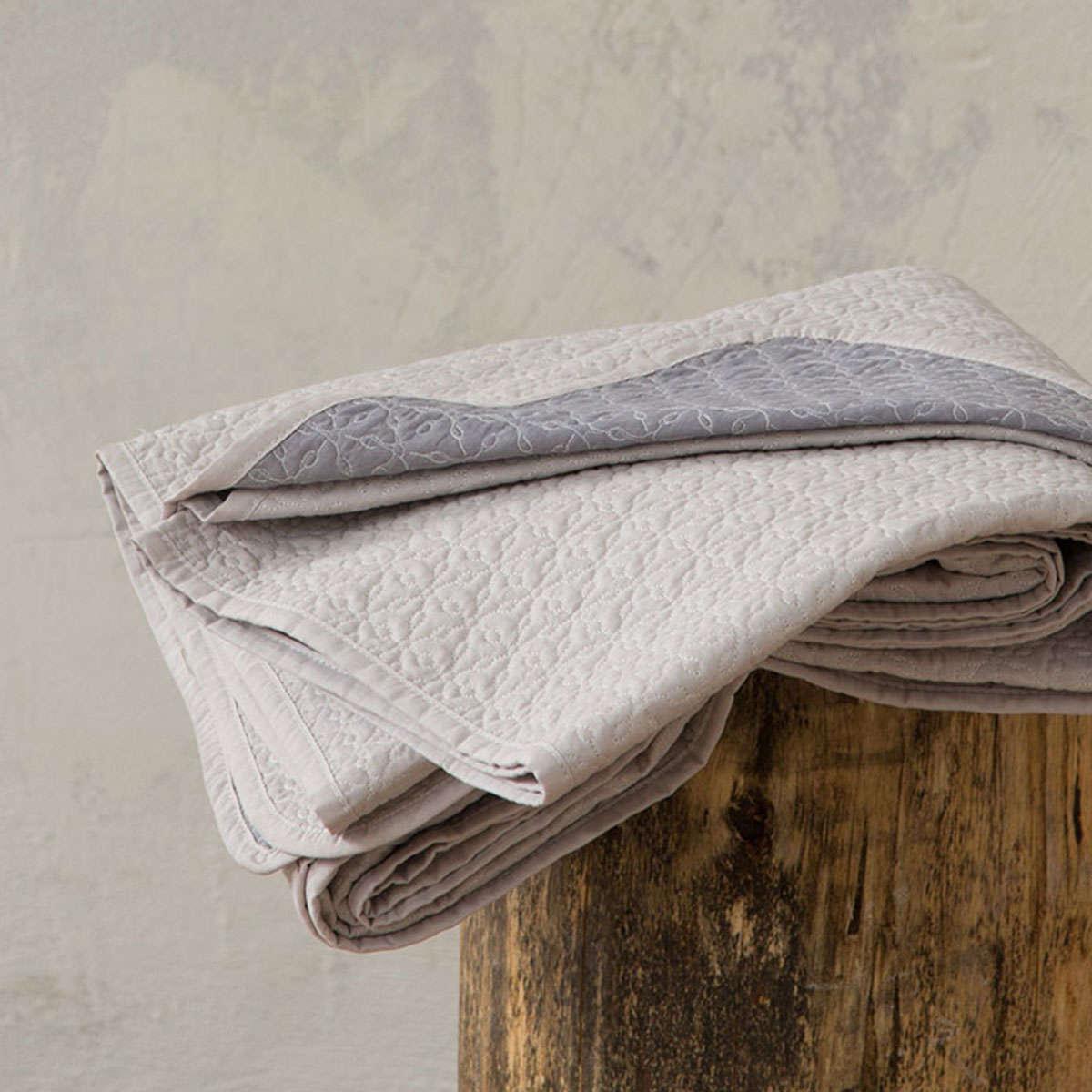 Κουβερλί Fiorire – Linen-Dark Gray Nima Υπέρδιπλo 220x240cm