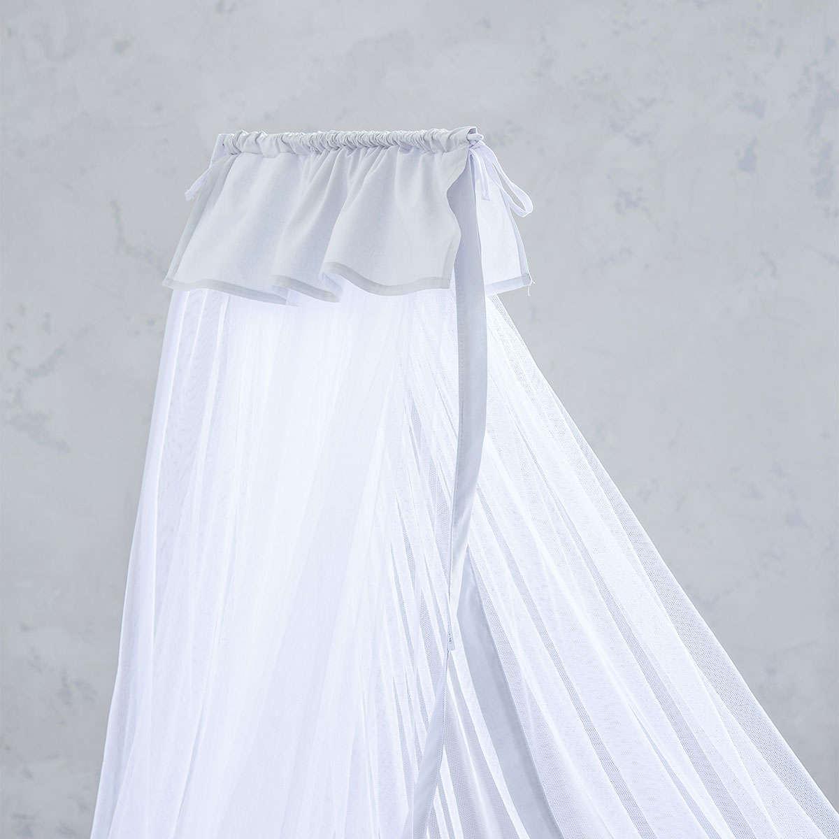 Κουνουπιέρα Βρεφική – Nappy Light Gray Nima 200x570cm