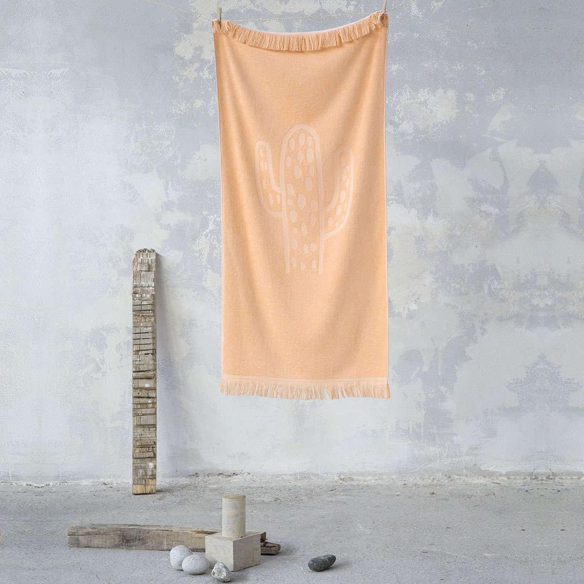 Πετσέτα Θαλάσσης – Cactil Salmon Nima Θαλάσσης 70x140cm