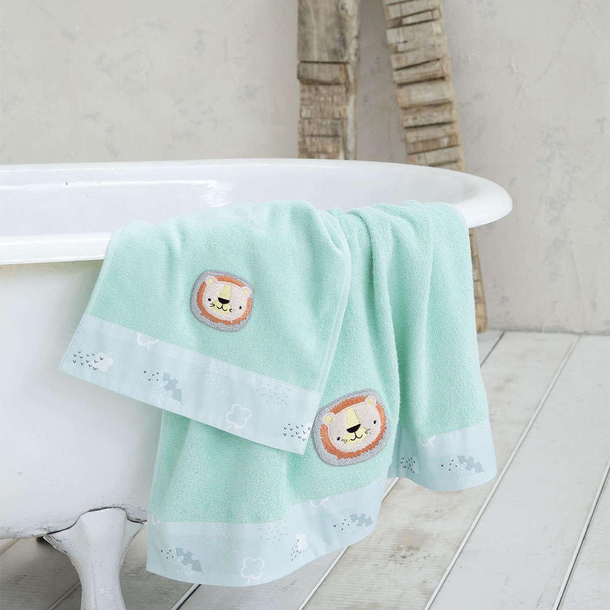 Πετσέτα Παιδική – Daba Doo Light Green Nima Σώματος 70x140cm