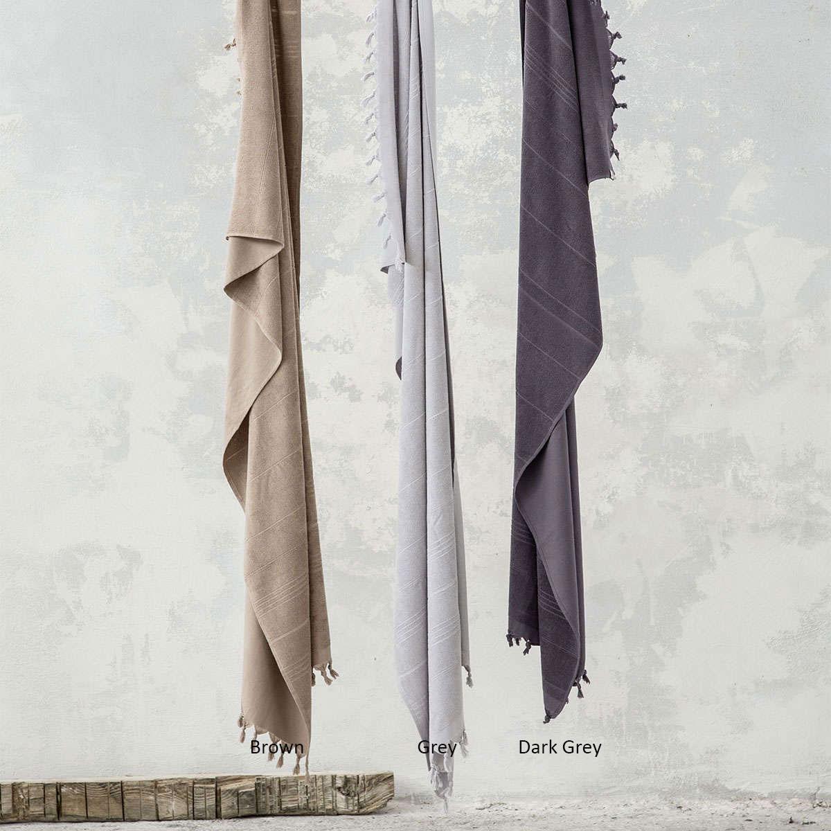 Πετσέτα Θαλάσσης – Παρεό Smooth Dark Gray Nima Θαλάσσης 90x190cm