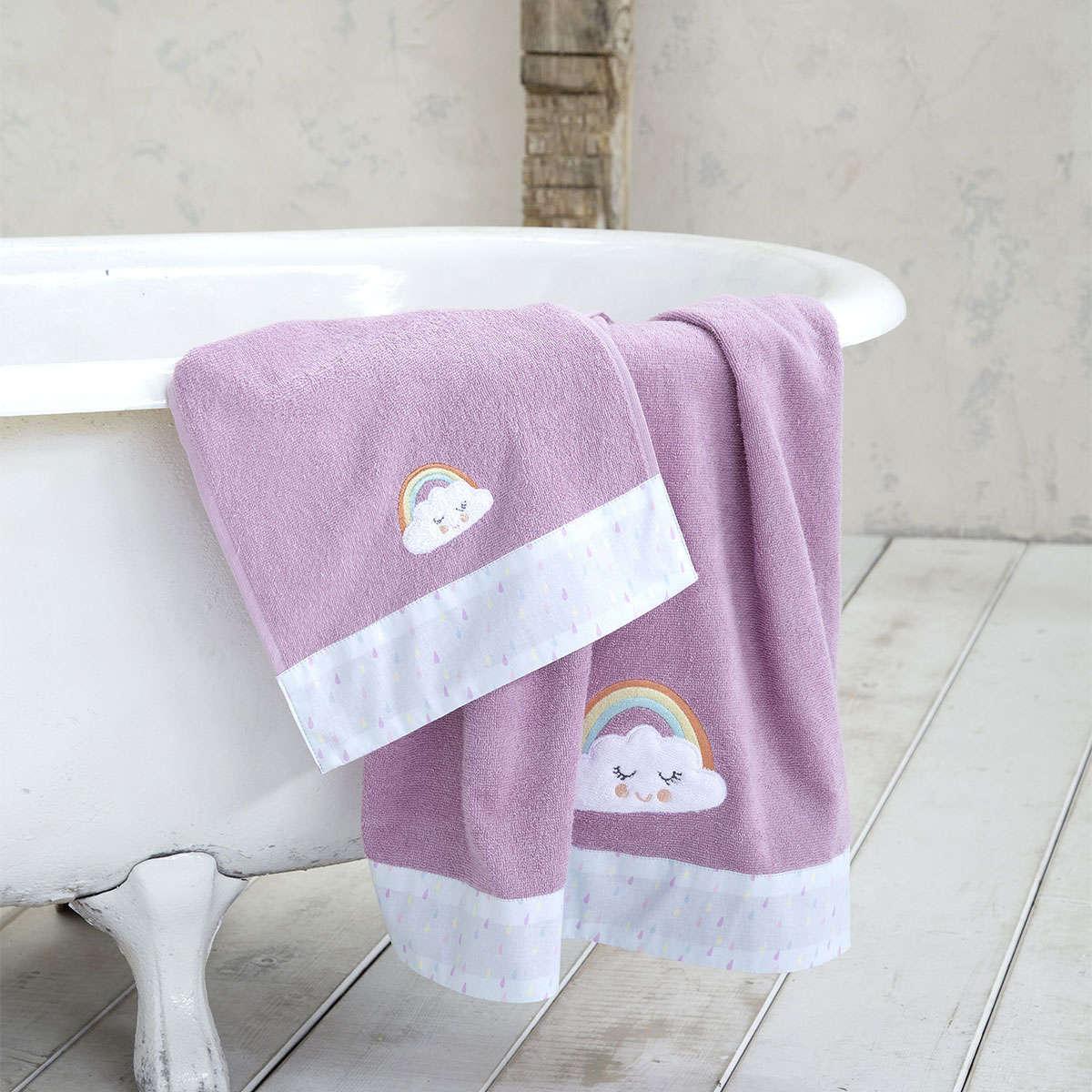 Πετσέτες Παιδικές Σετ 2τμχ. – Pawnee Purple Nima Σετ Πετσέτες 70x140cm