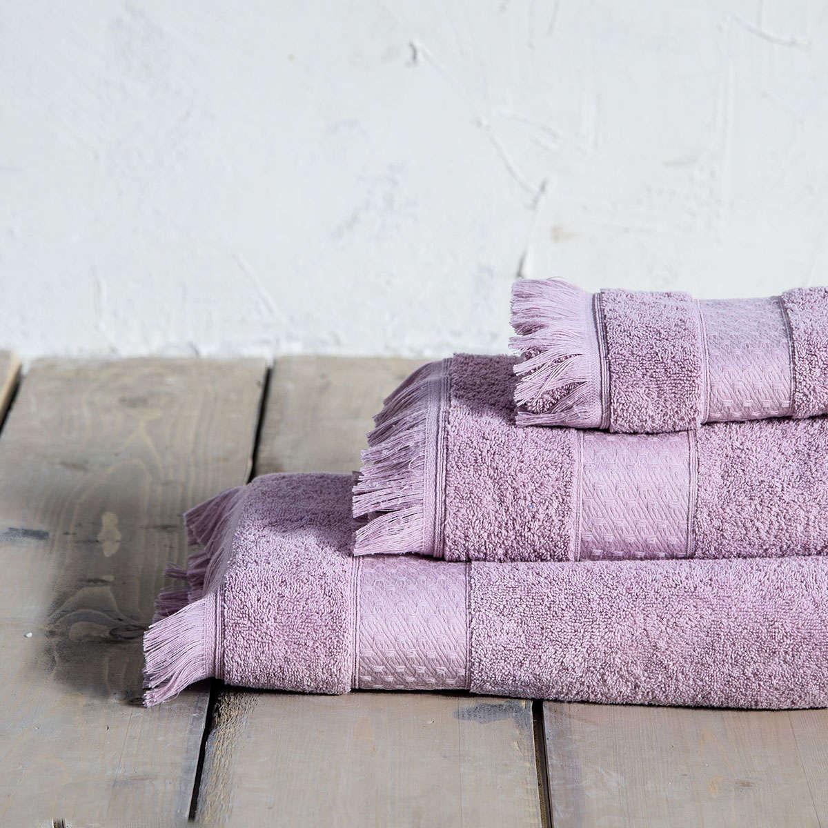 Πετσέτες Σετ 3τμχ. Parley Lilac Nima Σετ Πετσέτες 70x140cm