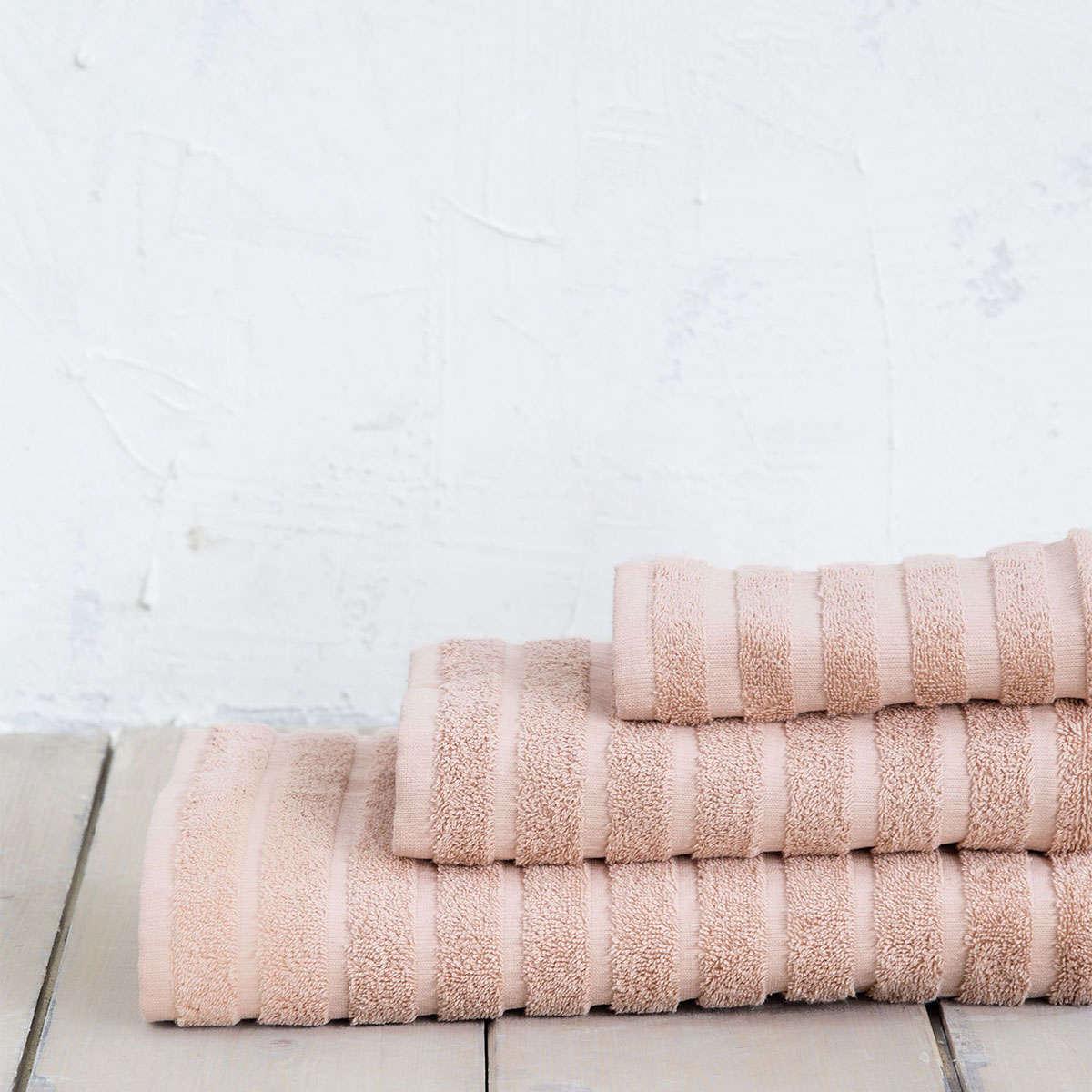 Πετσέτες Σετ Palmere – Salmon Nima Σετ Πετσέτες 70x140cm