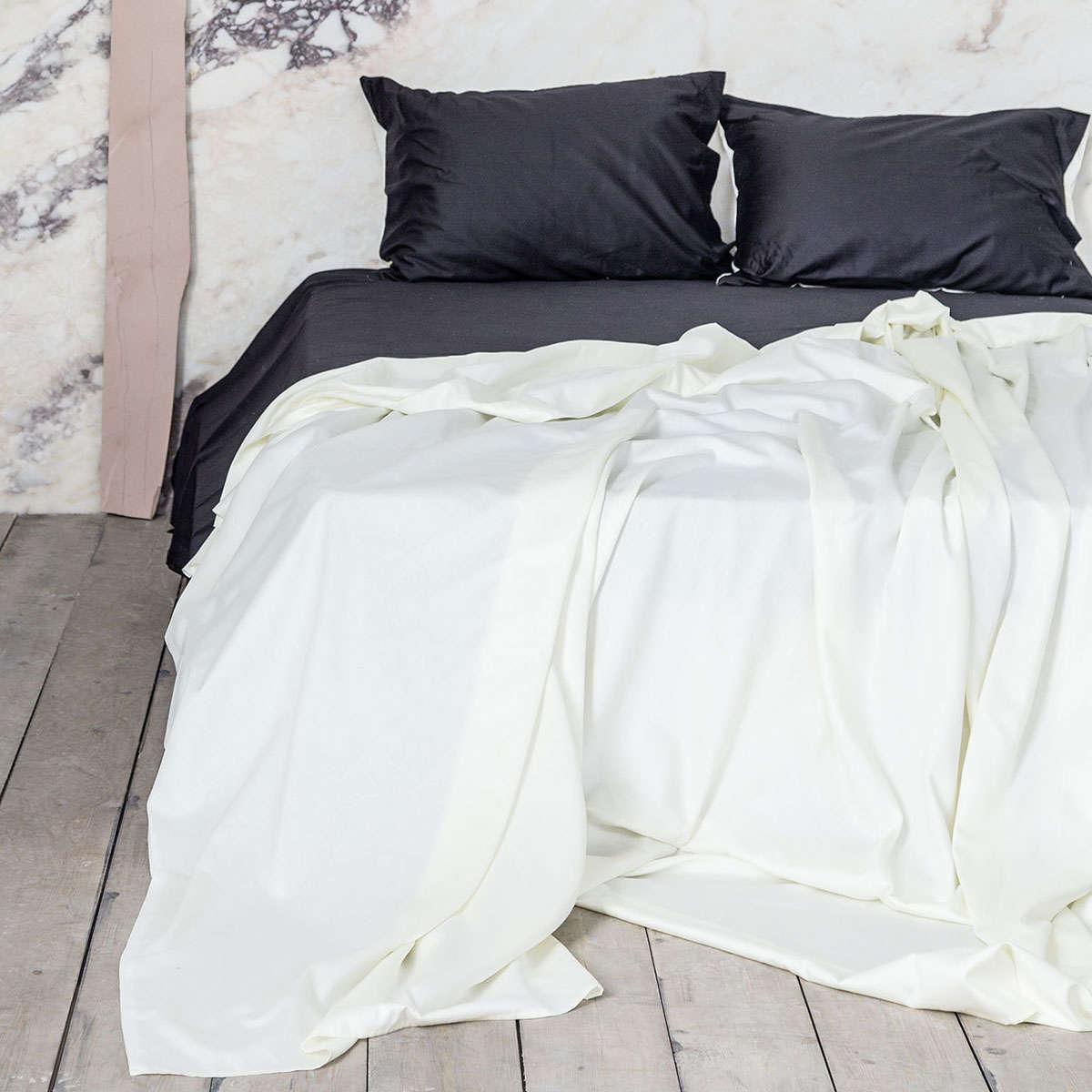 Σεντόνια Σετ 4Τμχ. Elegance – Ivory-Black Nima Υπέρδιπλo 240x260cm
