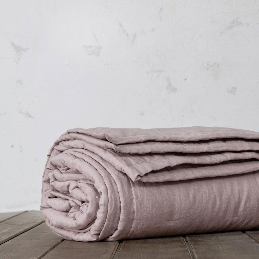 Κουβερλί Linen Dusty Pink Nima King Size 240x260cm
