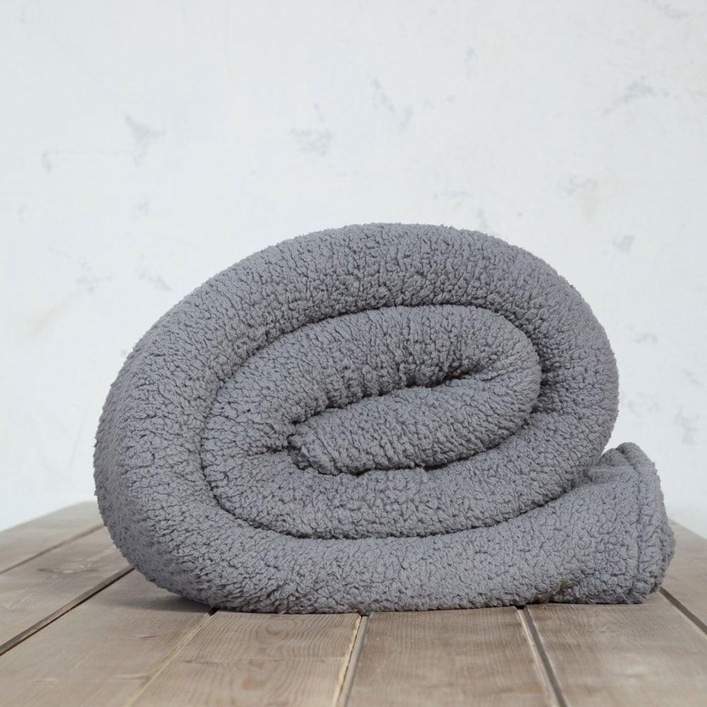 Κουβέρτα Manta Grey Nima Μονό 150x220cm