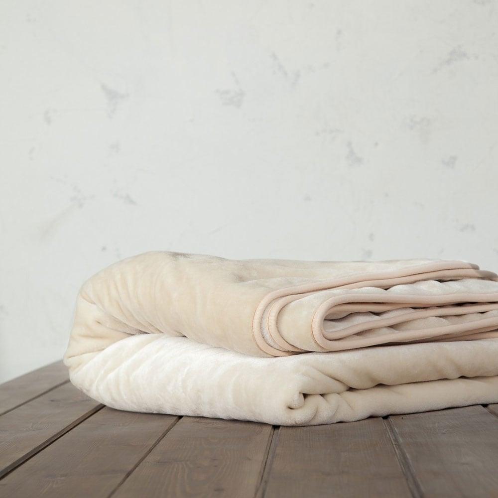Κουβέρτα Βελουτέ Coperta Light Beige Nima Υπέρδιπλo 220x240cm
