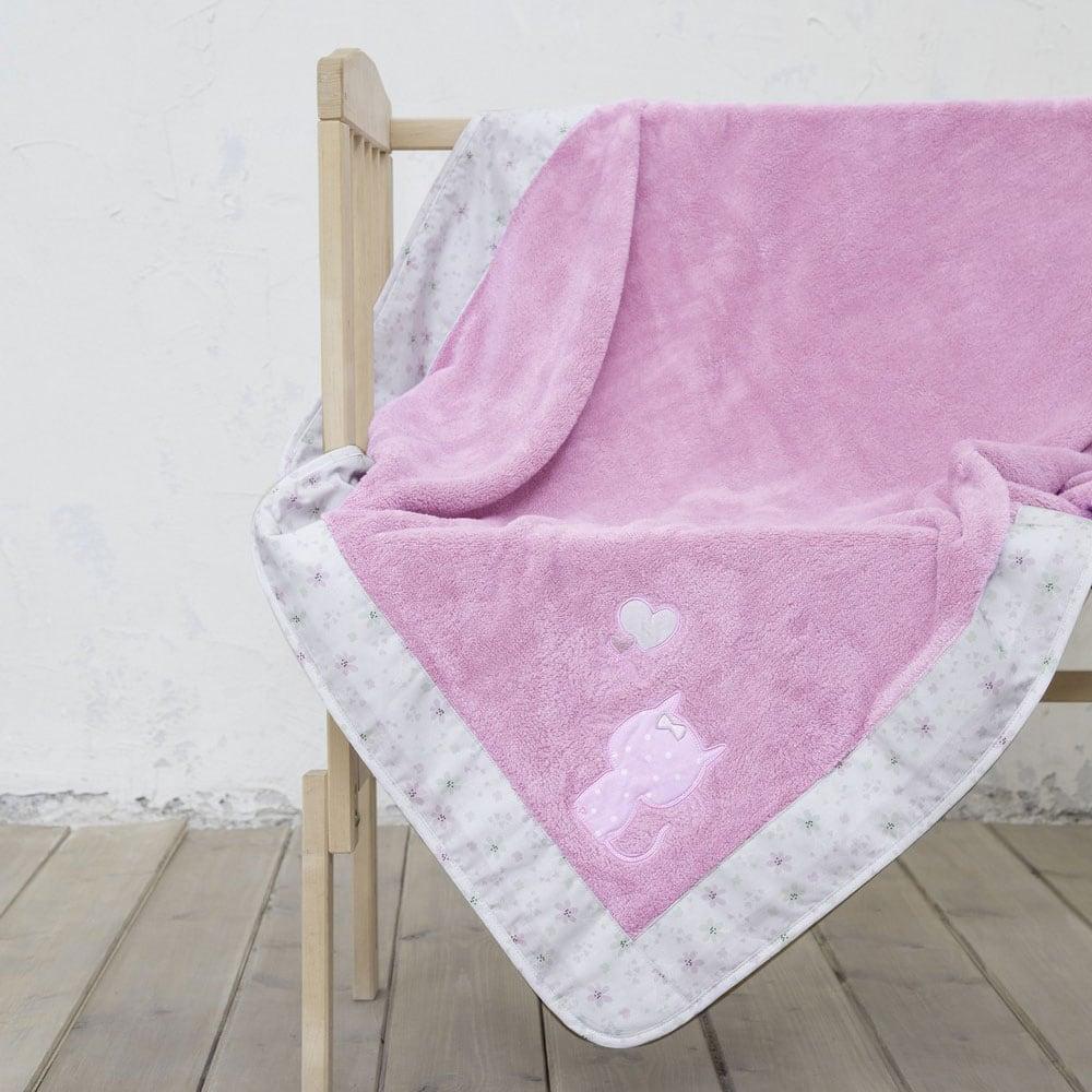 Κουβέρτα Βρεφική Kitten Pink Nima Κούνιας 110x140cm
