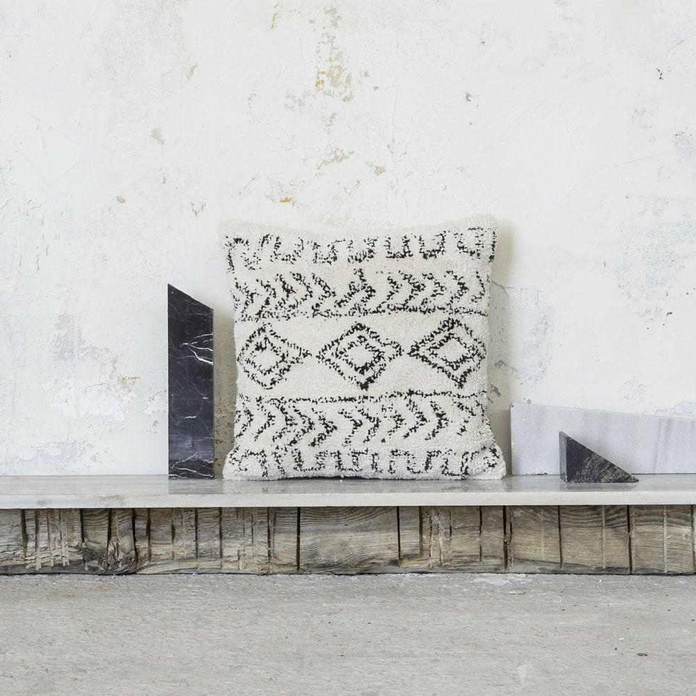 Μαξιλάρι Διακοσμητικό (Με Γέμιση) - Allard Ivory-Black Nima 45X45 100% Βαμβάκι