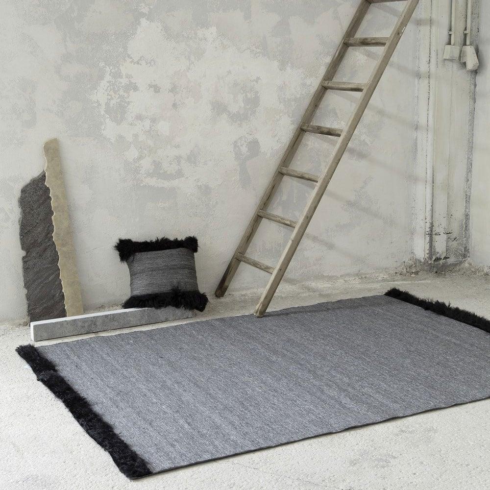 Μαξιλάρι Διακοσμητικό (Με Γέμιση) - Dalston Graphite Nima 45X45 Viscose-Wool
