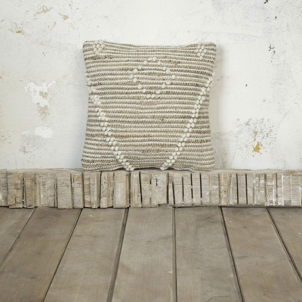 Μαξιλάρι Διακοσμητικό (Με Γέμιση) - Delans Beige Nima 45X45 Μαλλί-Polyester