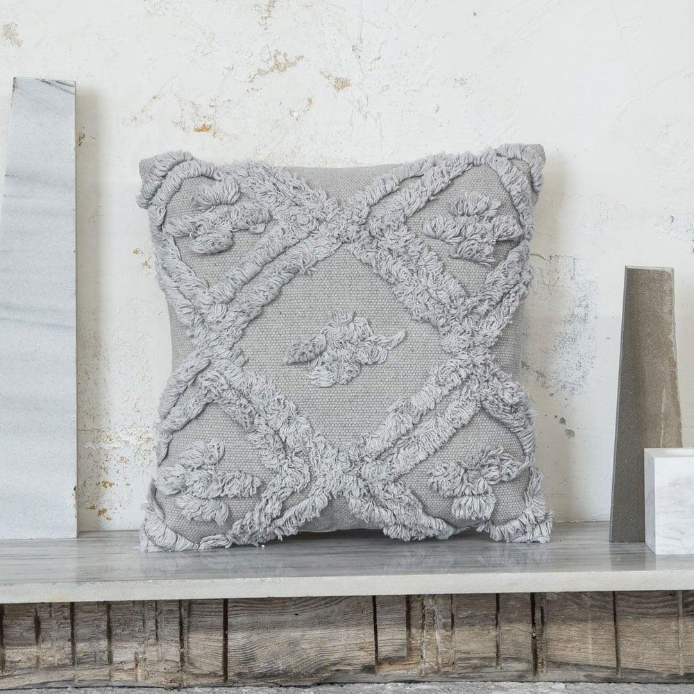 Μαξιλάρι Διακοσμητικό (Με Γέμιση) - Sharon Grey Nima 45X45 100% Βαμβάκι