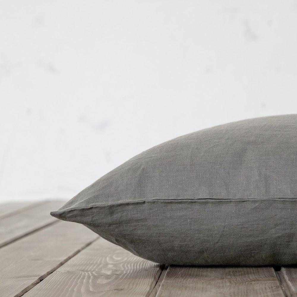 Μαξιλαροθήκες Linen Dark Grey Nima 50Χ70 50x70cm