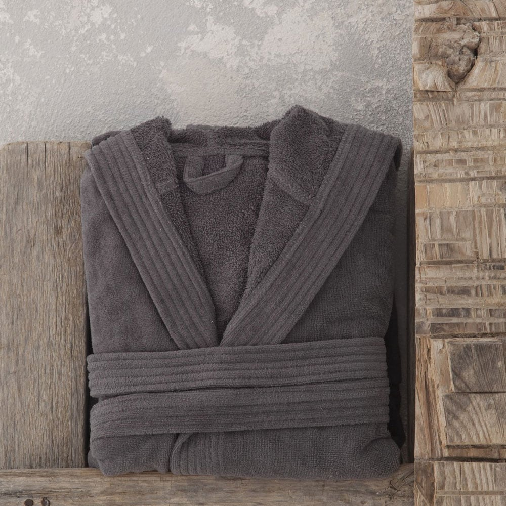 Μπουρνούζι Με Κουκούλα Zen Σε Κουτί – Charcoal Nima Medium M
