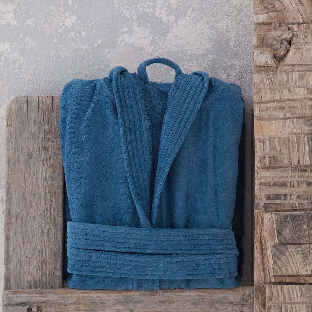 Μπουρνούζι Με Κουκούλα Zen Σε Κουτί – Denim Blue Nima Small S