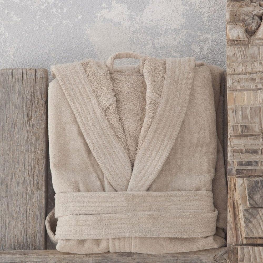 Μπουρνούζι Με Κουκούλα Zen Σε Κουτί – Warm Beige Nima Small S