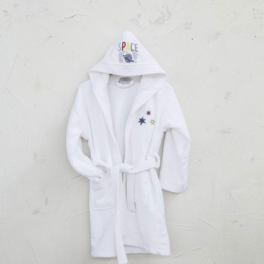 Μπουρνούζι Παιδικό -Space Boy White Nima 2-4 ετών No 4