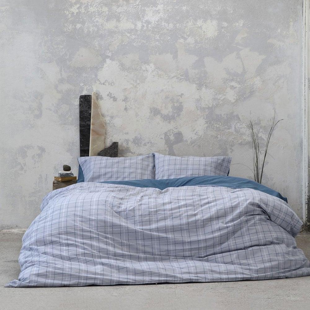 Πάπλωμα Gesso Grey-Blue Nima Μονό 170x240cm