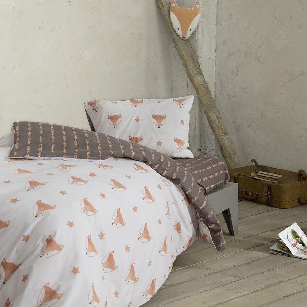 Πάπλωμα Παιδικό Foxxie Brown-Orange Nima Μονό 160x240cm