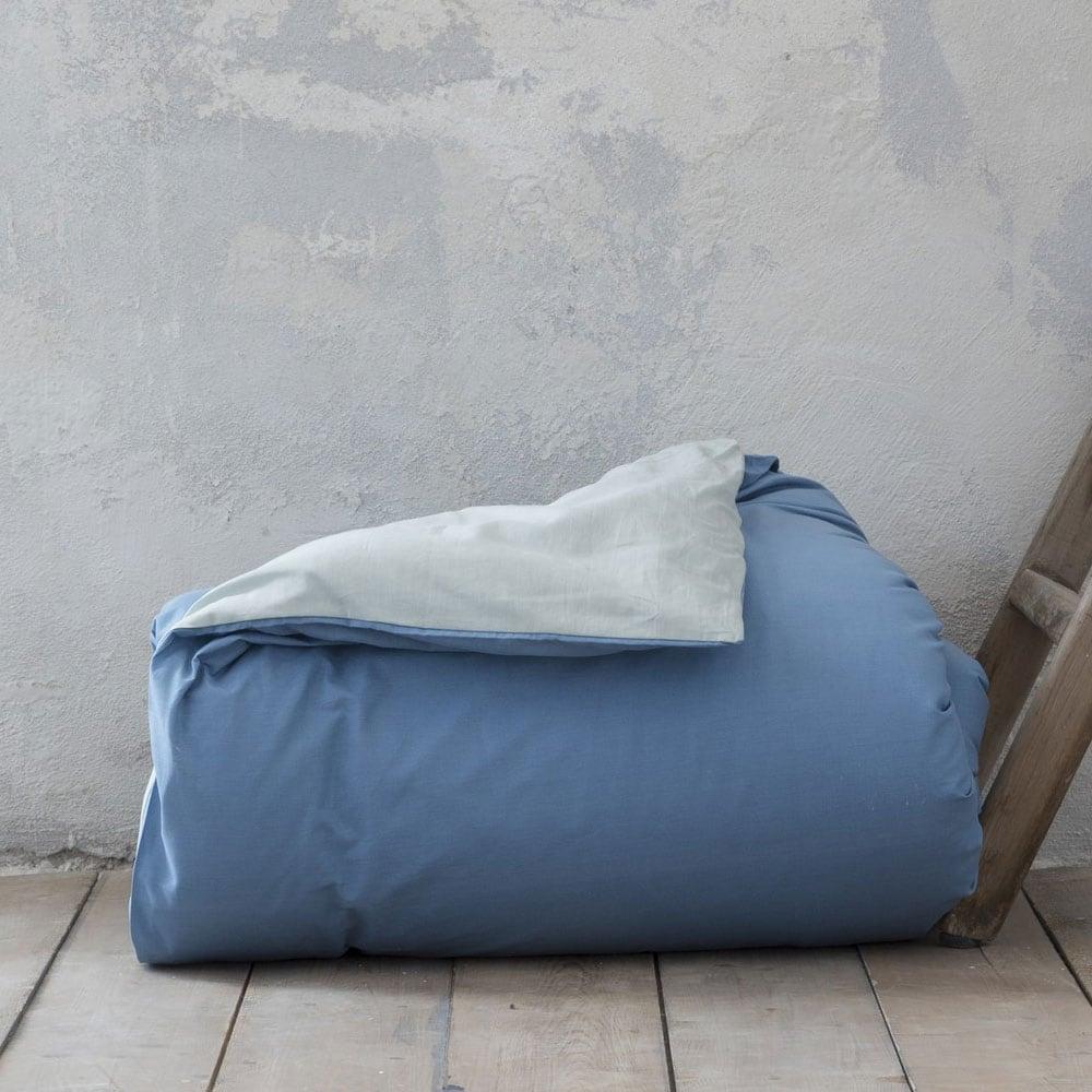 Παπλωματοθήκη Colors Smoke Mint – Shadow Blue Nima Υπέρδιπλo 220x240cm