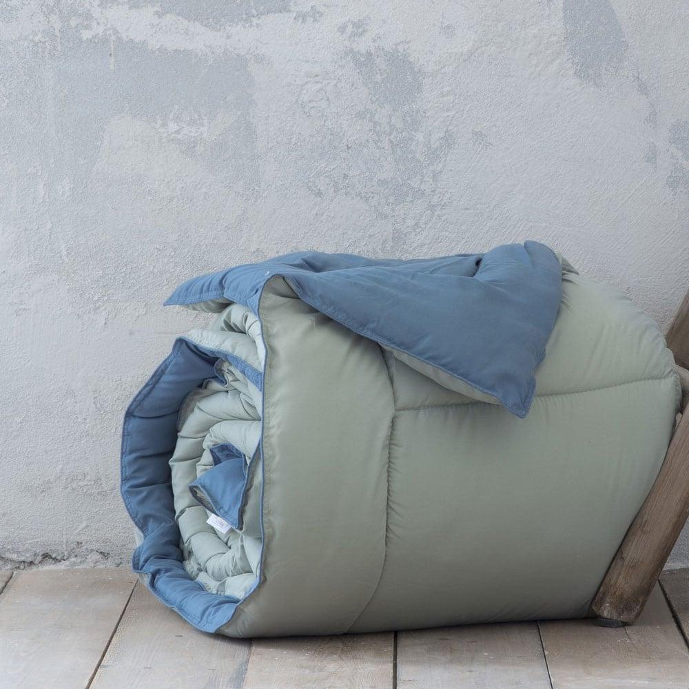 Παπλωματοθήκη Σετ Abalone Mint-Blue Nima Υπέρδιπλo 220x240cm