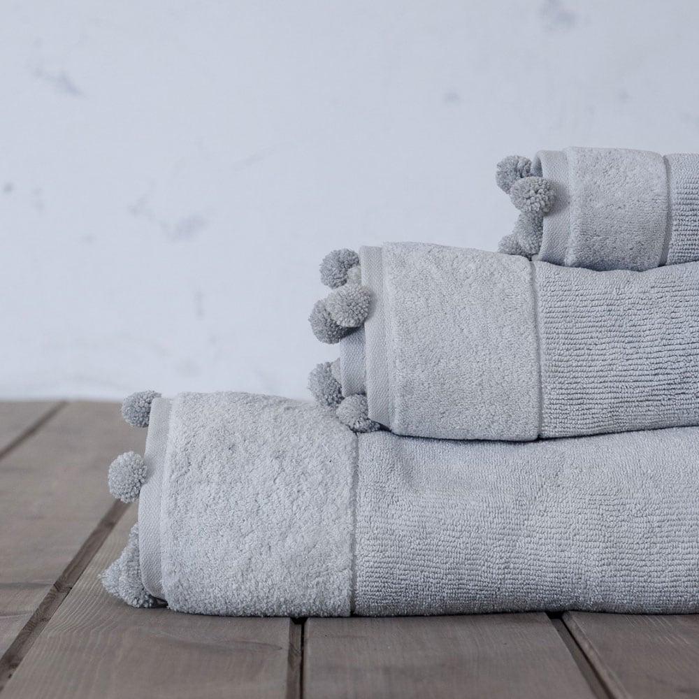 Πετσέτα Plush Grey Nima Προσώπου 50x90cm