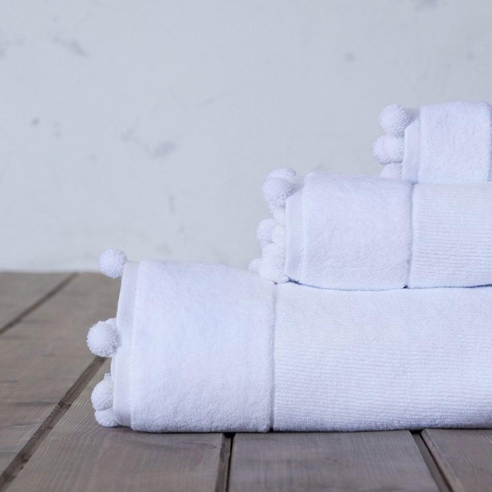 Πετσέτα Plush White Nima Χεριών 30x50cm