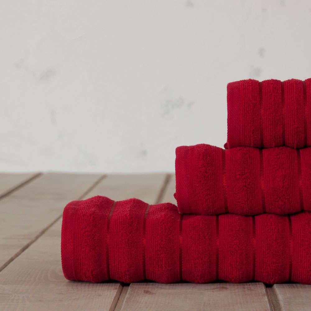 Πετσέτα Tousle Red Nima Σώματος 70x140cm