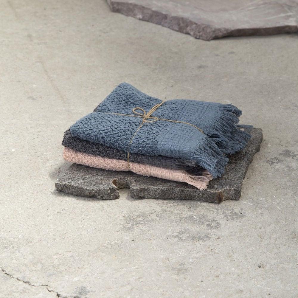 Πετσέτες Σετ 3τμχ. Dorinda A Grey-Pink-Blue Nima Σετ Πετσέτες 40x60cm