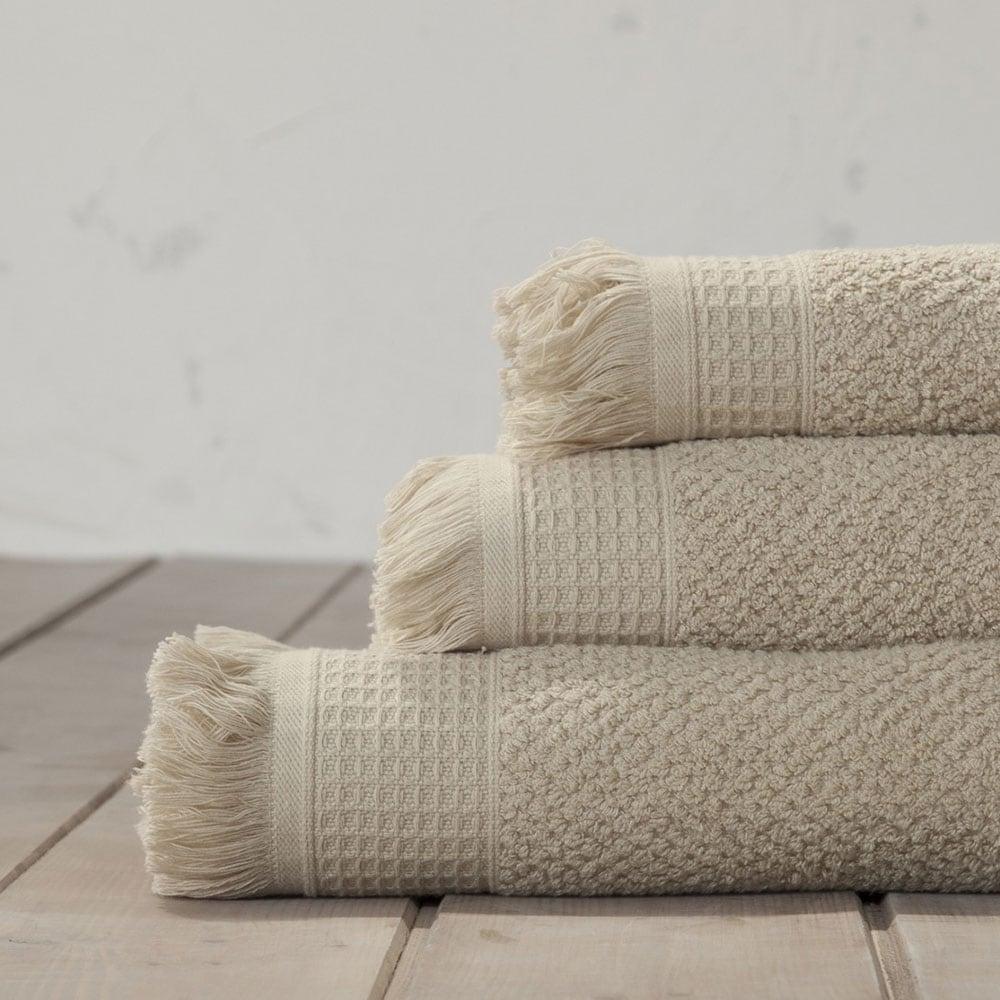 Πετσέτες Σετ Dorinda B Beige-Grey Nima Σετ Πετσέτες 40x60cm
