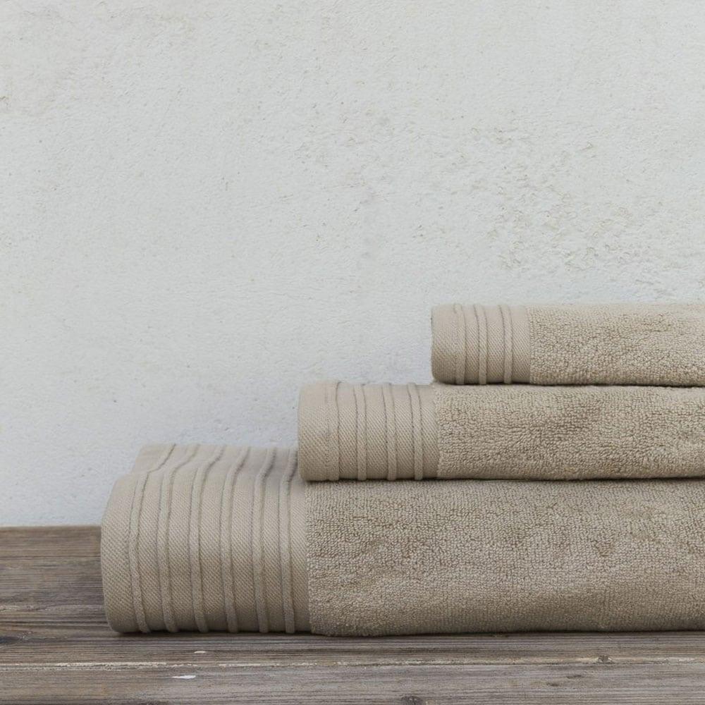 Πετσέτες Feel Fresh Σετ 3τμχ Beige Nima Σετ Πετσέτες 90x145cm
