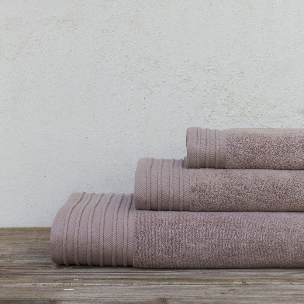Πετσέτες Feel Fresh Σετ 3τμχ Dusty Pink Nima Σετ Πετσέτες 90x145cm