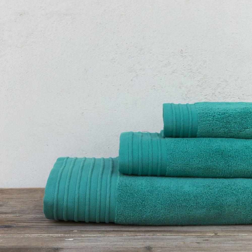 Πετσέτες Feel Fresh Σετ 3τμχ Emerald Nima Σετ Πετσέτες 90x145cm