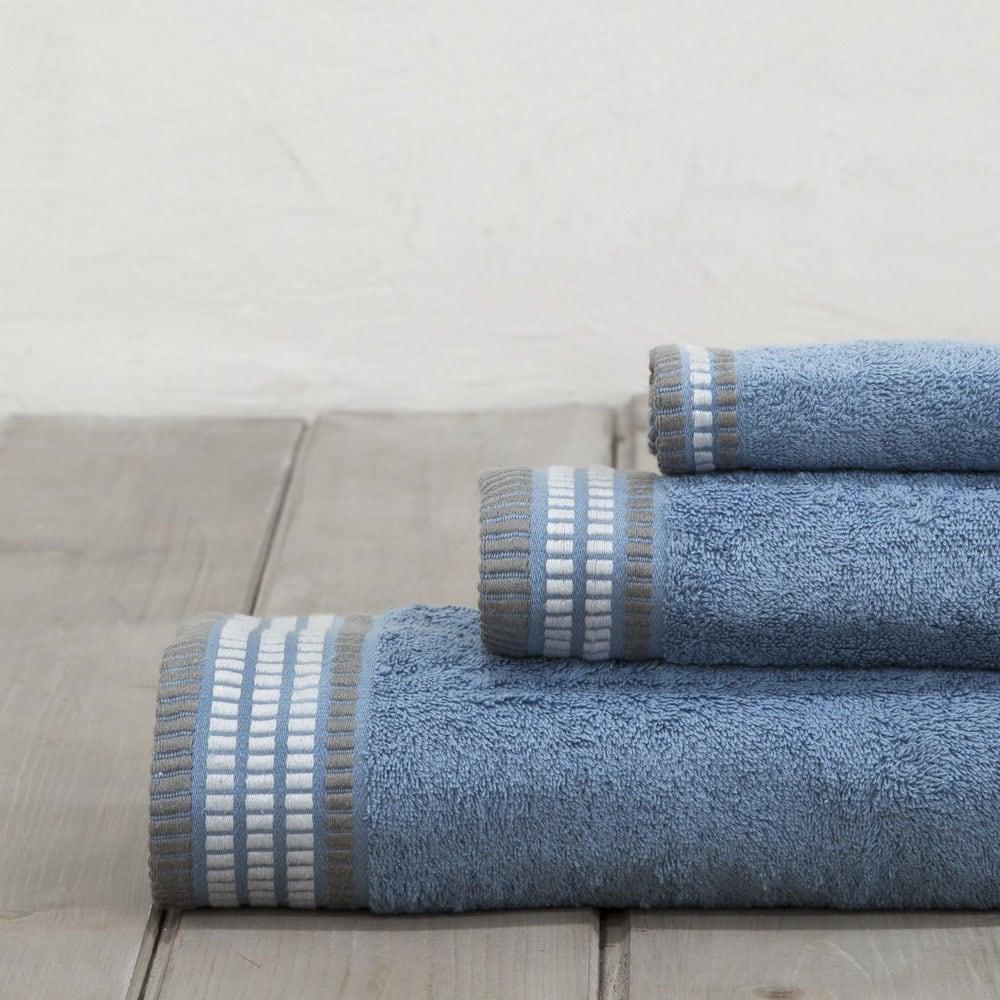 Πετσέτες Σετ 3τμχ. Siren Denim Blue Nima Σετ Πετσέτες