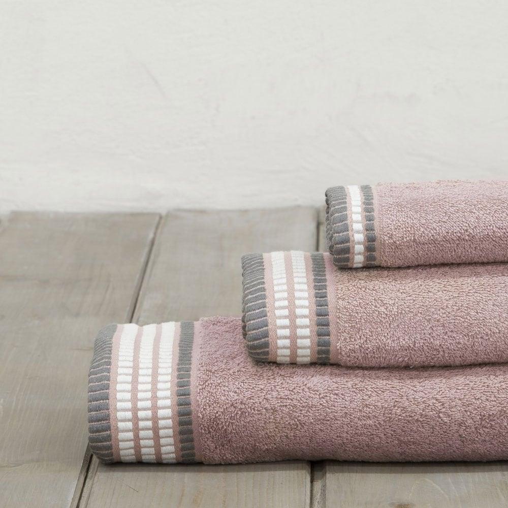 Πετσέτες Σετ 3τμχ. Siren Powder Pink Nima Σετ Πετσέτες