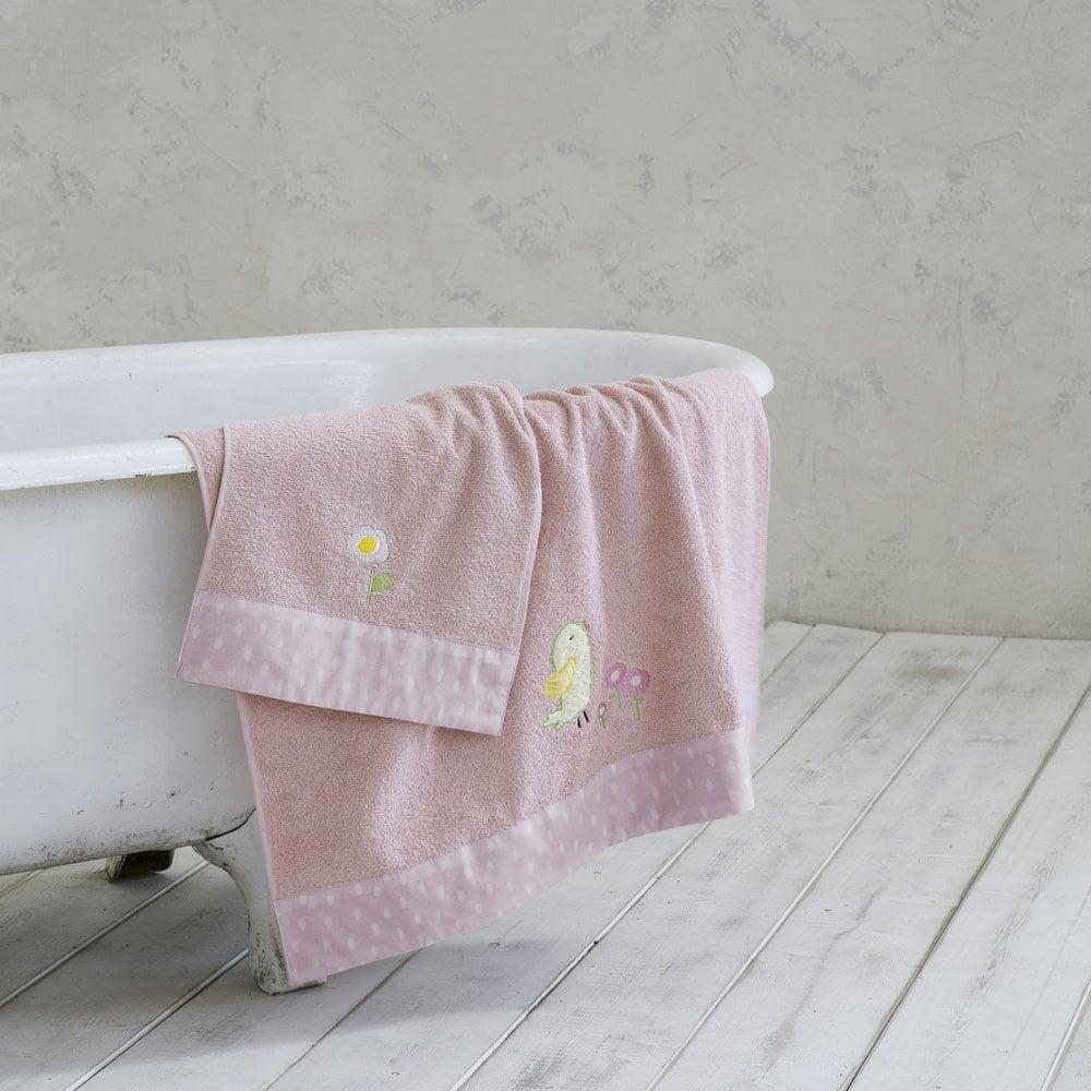 Πετσέτες Σετ 2τμχ Βρεφικές Cuckoo Pink Nima Σετ Πετσέτες