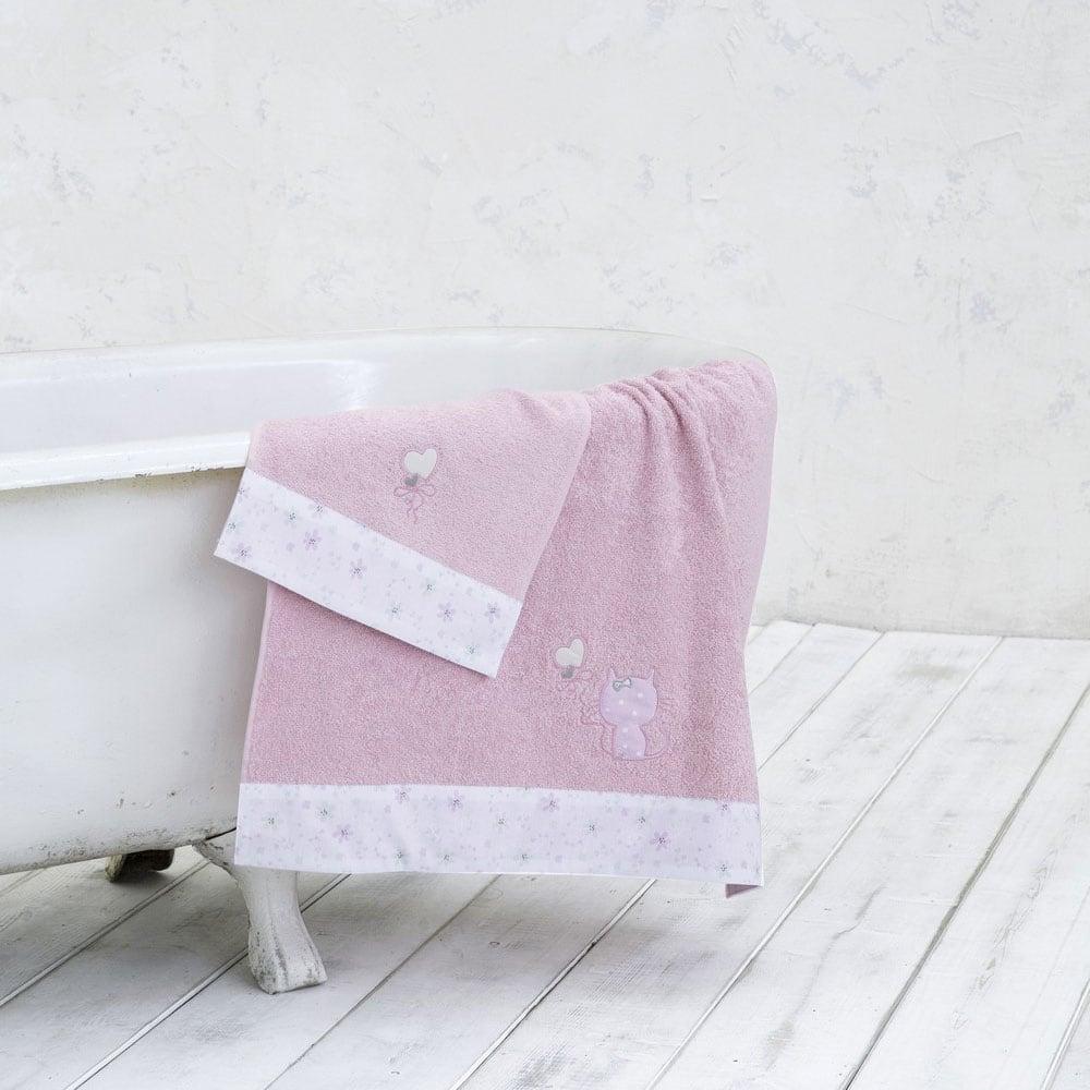 Πετσέτες Σετ 2τμχ Βρεφικές Kitten Pink Nima Σετ Πετσέτες