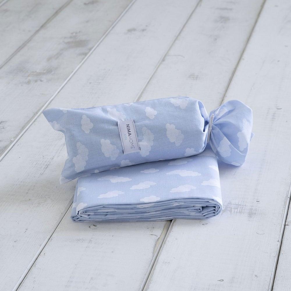 Σεντόνι Παιδικό Nuage Blue Nima Μονό 170x255cm