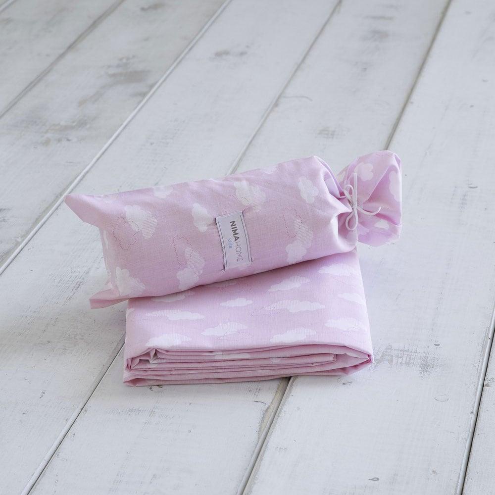 Σεντόνι Παιδικό Nuage Pink Nima Μονό 170x255cm