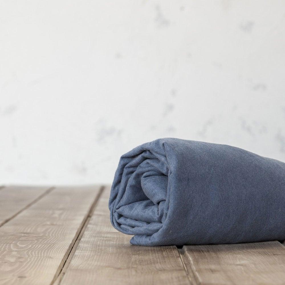 Σεντόνι Με Λάστιχο Naem Blue Nima King Size 180x230cm