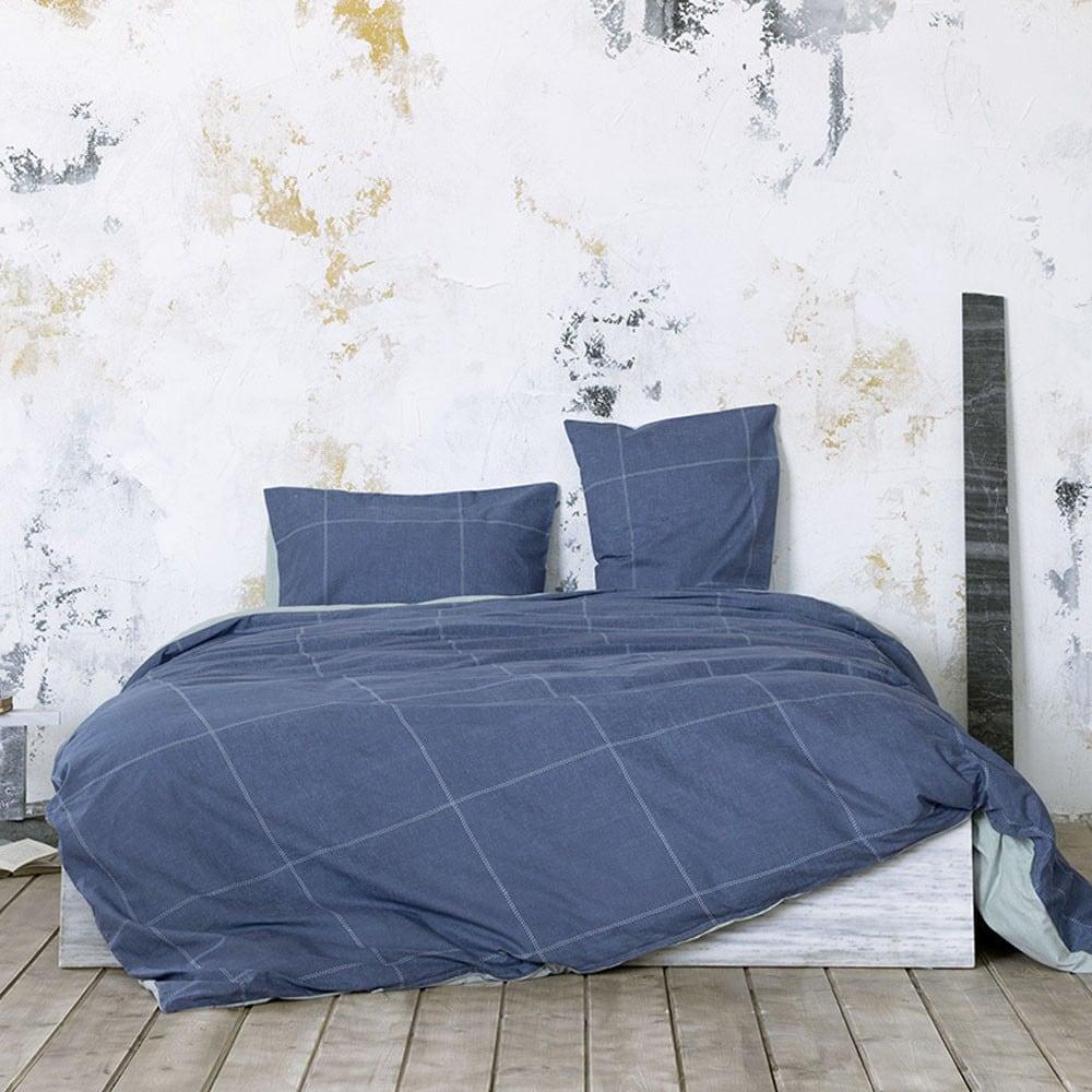 Σεντόνια Σετ 4Τμχ. Με Λάστιχο Tailor Blue Nima Υπέρδιπλo 160x200cm