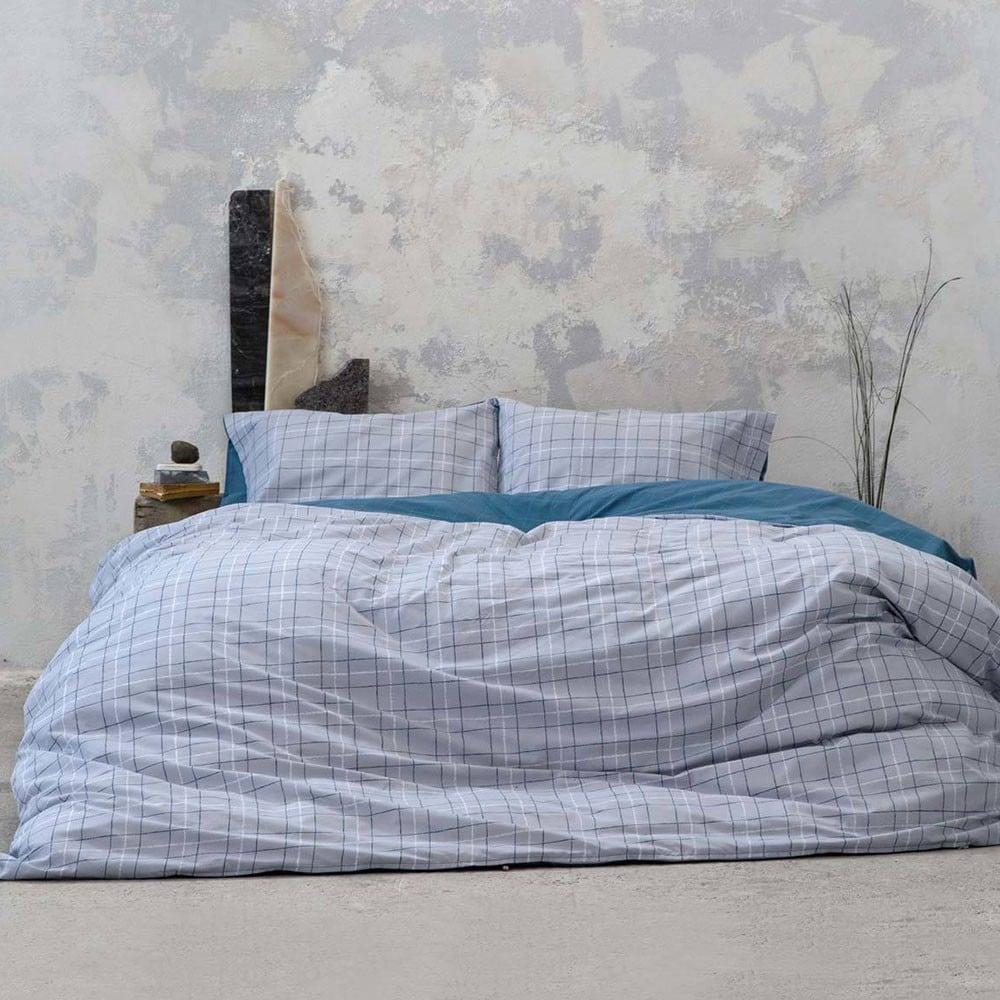 Σεντόνια Σετ 4Τμχ. Gesso Grey-Blue Nima Υπέρδιπλo 240x260cm