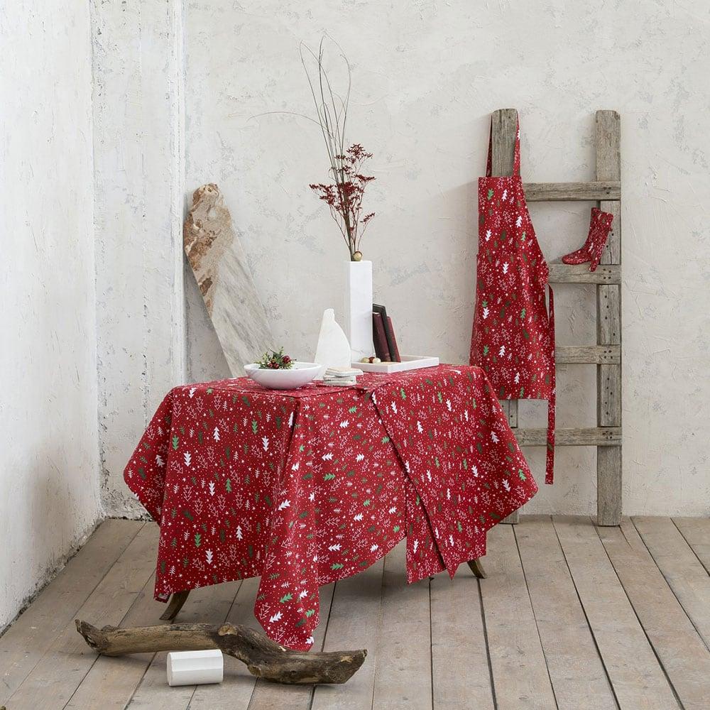Σουπλά Σετ Χριστουγεννιάτικα Be Merry Red Nima 35x50cm